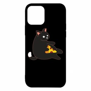 Etui na iPhone 12/12 Pro Cat with pizza
