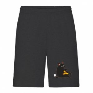 Men's shorts Cat with pizza