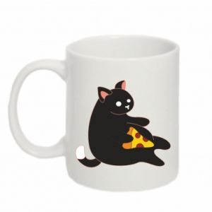 Mug 330ml Cat with pizza