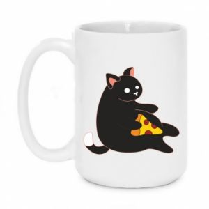 Kubek 450ml Cat with pizza