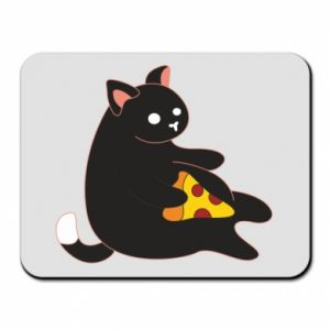 Mouse pad Cat with pizza