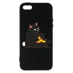 Phone case for iPhone 5/5S/SE Cat with pizza