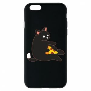Phone case for iPhone 6/6S Cat with pizza