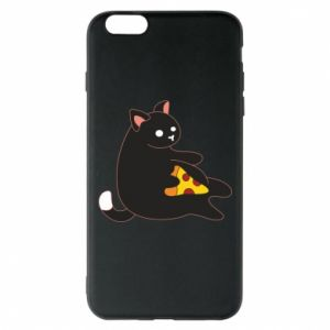 Phone case for iPhone 6 Plus/6S Plus Cat with pizza