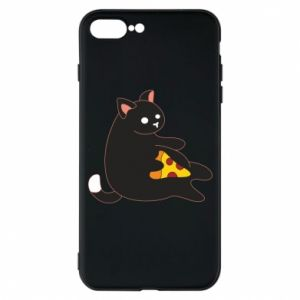 Phone case for iPhone 7 Plus Cat with pizza
