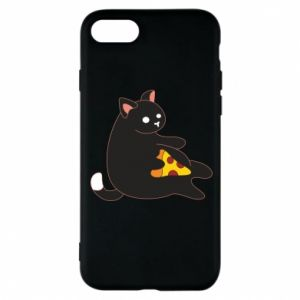 Phone case for iPhone 8 Cat with pizza