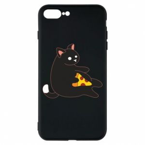Phone case for iPhone 8 Plus Cat with pizza
