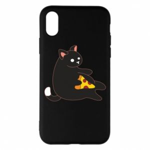 Phone case for iPhone X/Xs Cat with pizza