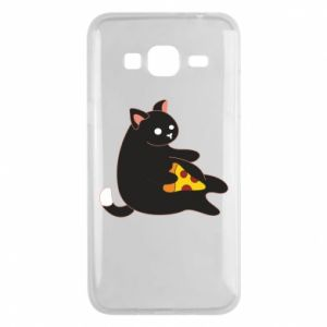 Phone case for Samsung J3 2016 Cat with pizza