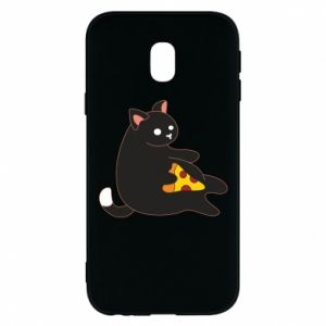 Phone case for Samsung J3 2017 Cat with pizza