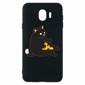 Phone case for Samsung J4 Cat with pizza