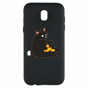 Phone case for Samsung J5 2017 Cat with pizza