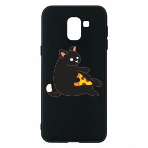 Phone case for Samsung J6 Cat with pizza