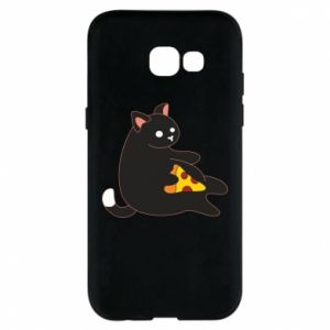 Phone case for Samsung A5 2017 Cat with pizza