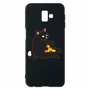 Phone case for Samsung J6 Plus 2018 Cat with pizza