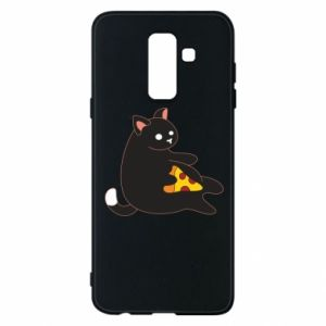 Phone case for Samsung A6+ 2018 Cat with pizza