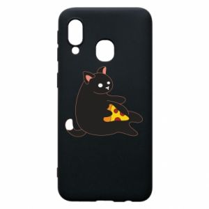 Phone case for Samsung A40 Cat with pizza