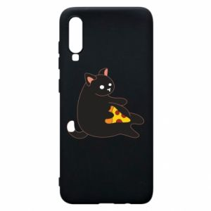 Phone case for Samsung A70 Cat with pizza
