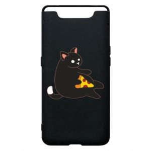 Phone case for Samsung A80 Cat with pizza