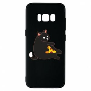 Phone case for Samsung S8 Cat with pizza