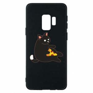 Phone case for Samsung S9 Cat with pizza