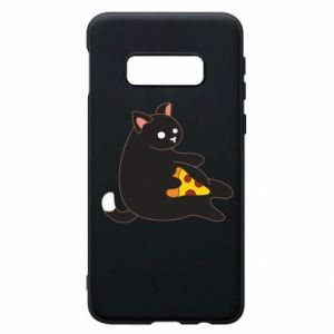 Phone case for Samsung S10e Cat with pizza