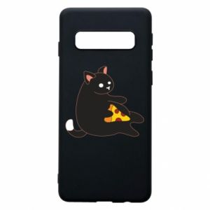 Phone case for Samsung S10 Cat with pizza