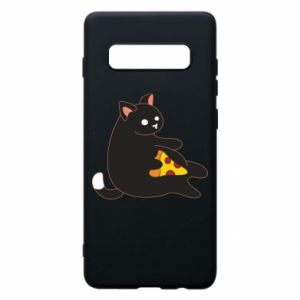 Phone case for Samsung S10+ Cat with pizza