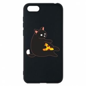 Phone case for Huawei Y5 2018 Cat with pizza