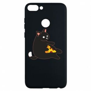 Phone case for Huawei P Smart Cat with pizza