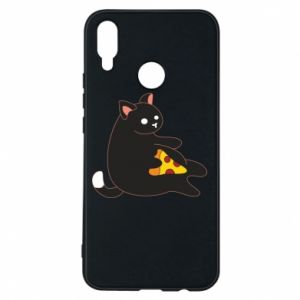 Phone case for Huawei P Smart Plus Cat with pizza