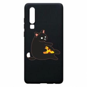 Phone case for Huawei P30 Cat with pizza