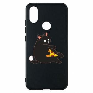 Phone case for Xiaomi Mi A2 Cat with pizza