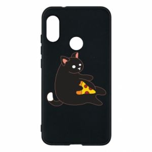 Phone case for Mi A2 Lite Cat with pizza