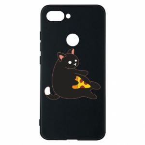 Phone case for Xiaomi Mi8 Lite Cat with pizza