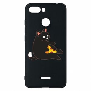 Phone case for Xiaomi Redmi 6 Cat with pizza