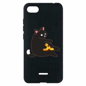 Phone case for Xiaomi Redmi 6A Cat with pizza
