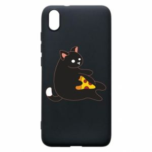 Phone case for Xiaomi Redmi 7A Cat with pizza