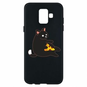 Phone case for Samsung A6 2018 Cat with pizza