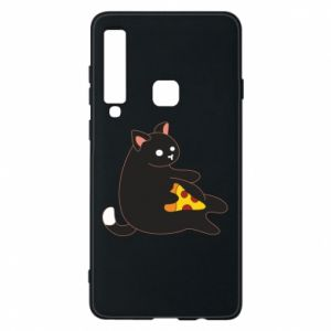 Phone case for Samsung A9 2018 Cat with pizza