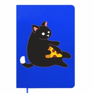 Notepad Cat with pizza
