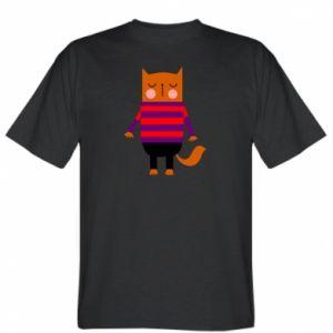 T-shirt Red cat in a sweater - PrintSalon