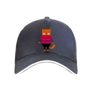 Czapka Red cat in a sweater