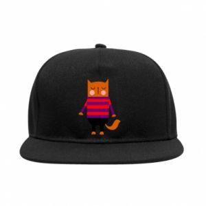 SnapBack Red cat in a sweater - PrintSalon