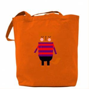 Bag Red cat in a sweater - PrintSalon