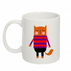 Mug 330ml Red cat in a sweater