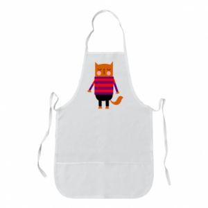 Apron Red cat in a sweater - PrintSalon
