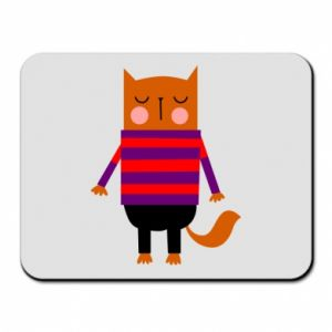 Mouse pad Red cat in a sweater - PrintSalon