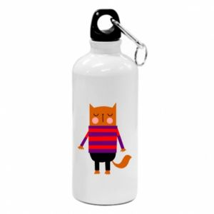 Bidon turystyczny Red cat in a sweater