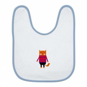 Bib Red cat in a sweater - PrintSalon